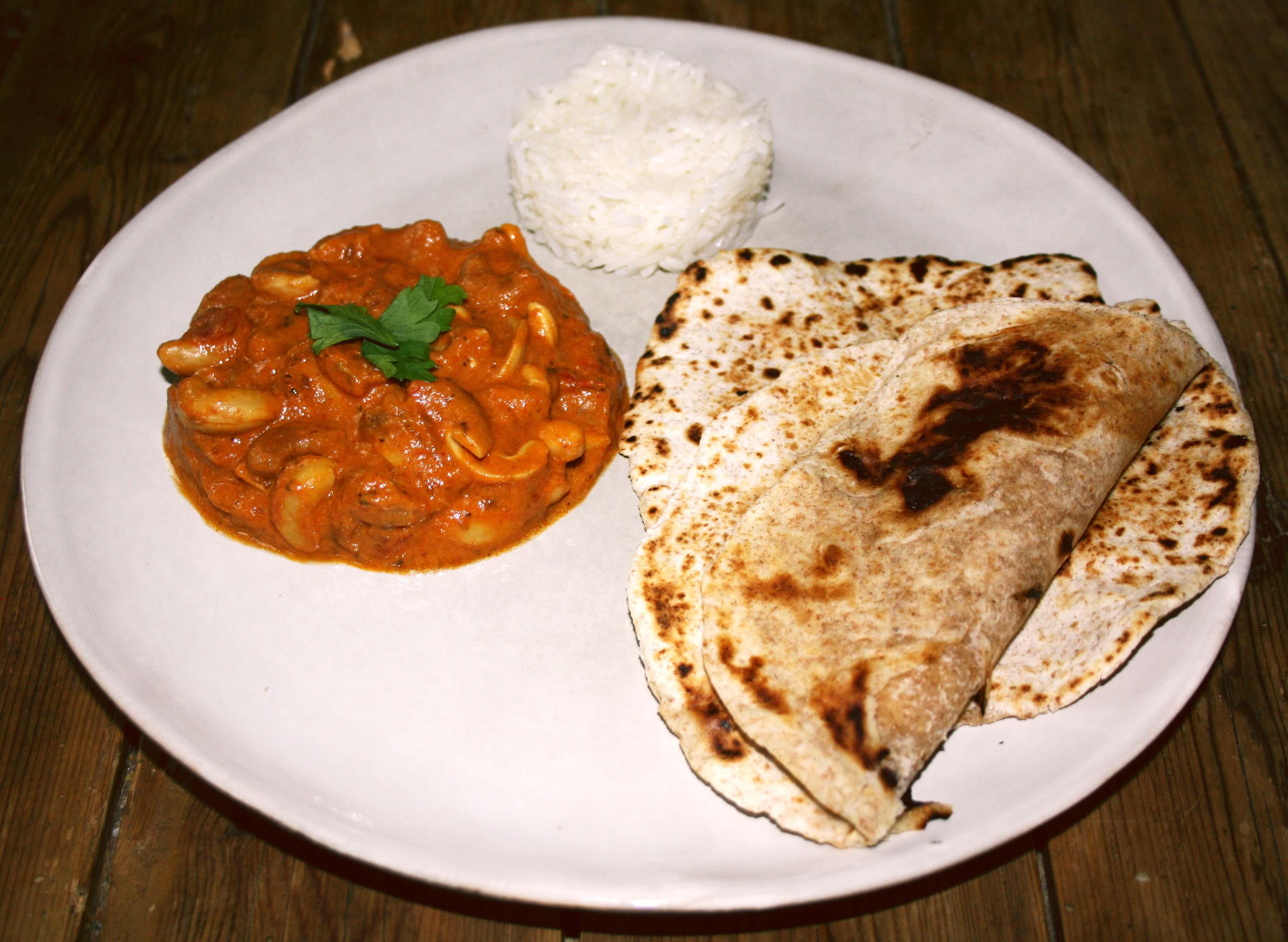 curry noix de cajou chapati