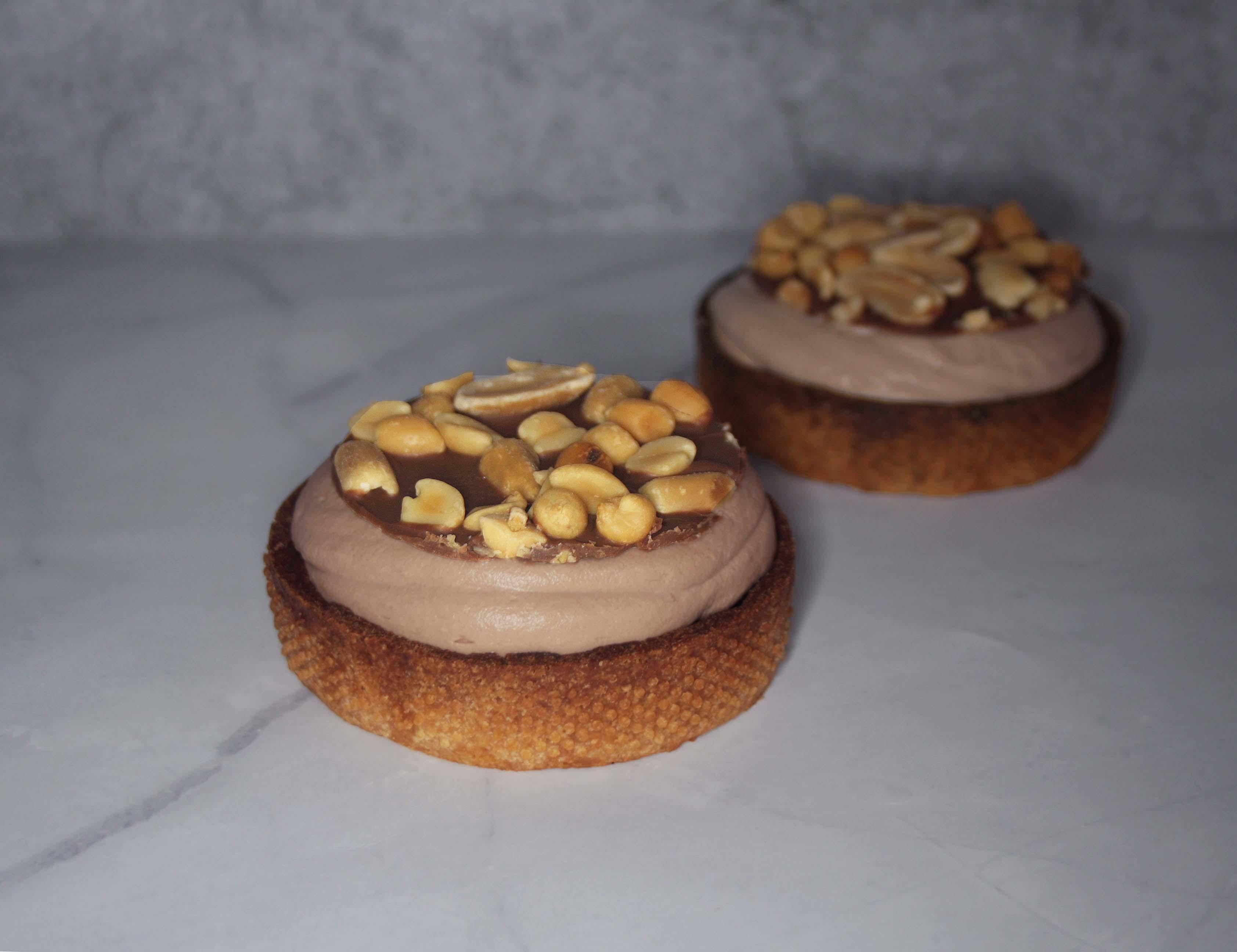 Tartes chocolat-lait cacahuètes