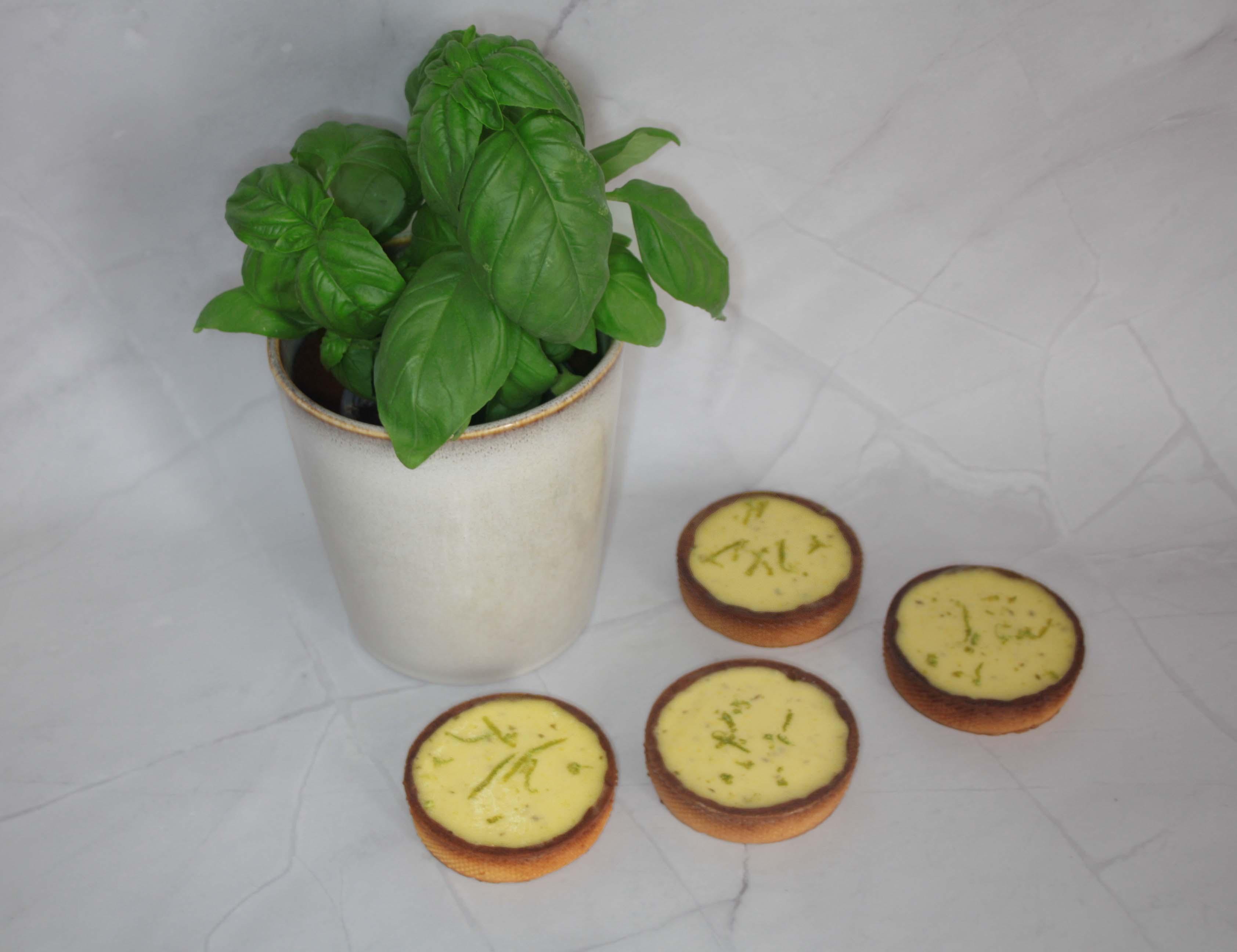Tartelettes aux 2 citrons et basilic