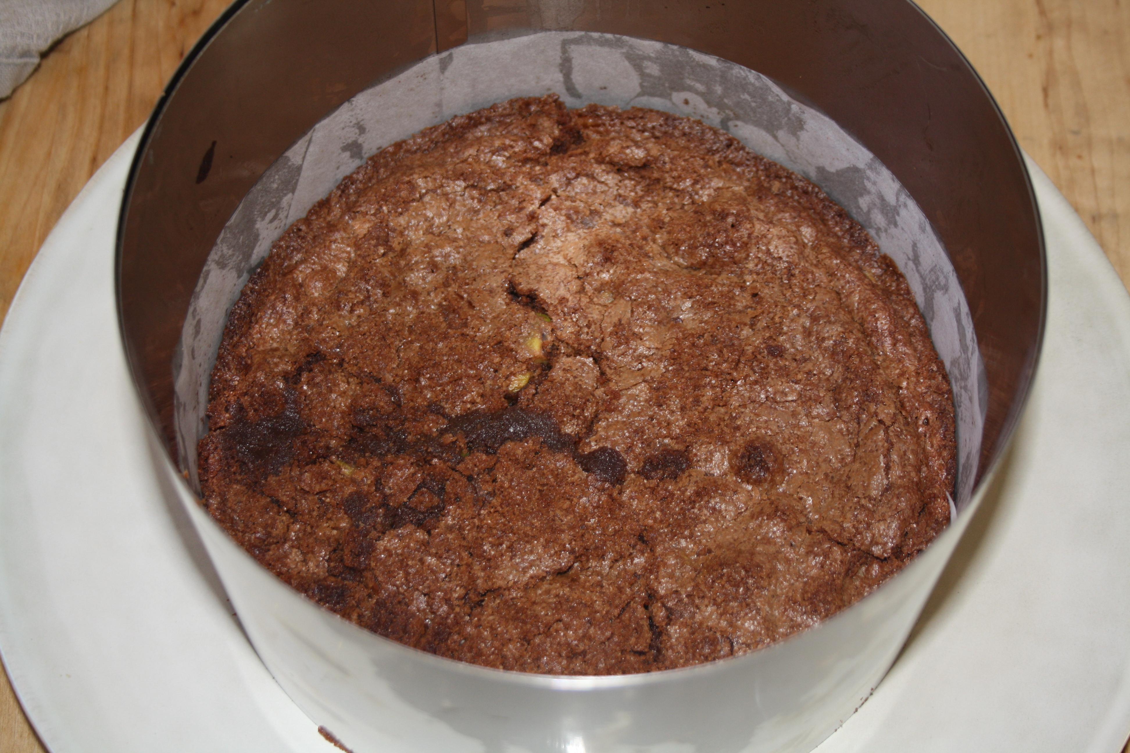brownie et mousse au chocolat